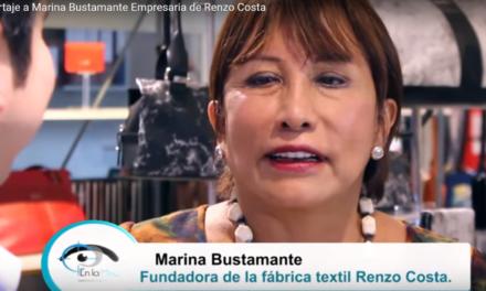 Reportaje a Marina Bustamante fundadora de la empresa de Renzo Acosta