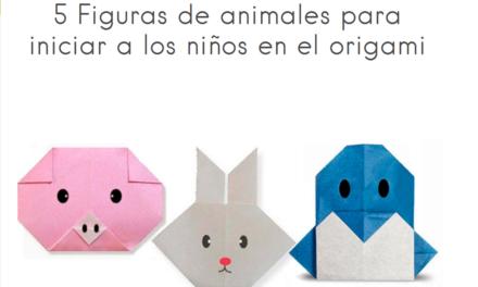 5 figuras de animales para iniciar a los niños en el origami