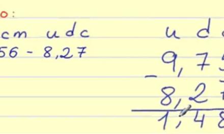 Sumas y restas con números decimales