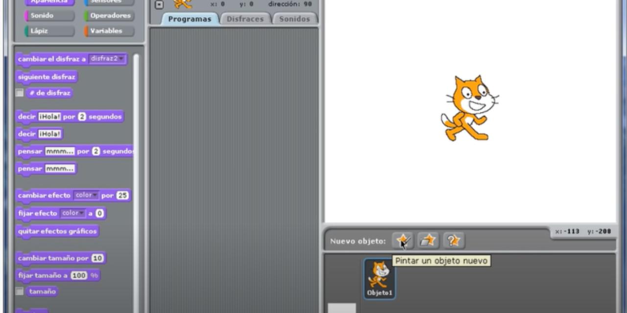 Animación básica con scratch