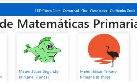 Cursos de matemáticas primaria gratis