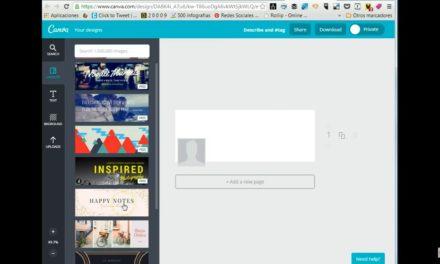 Canva: Cómo usar Canva. Tutorial para diseño de imágenes