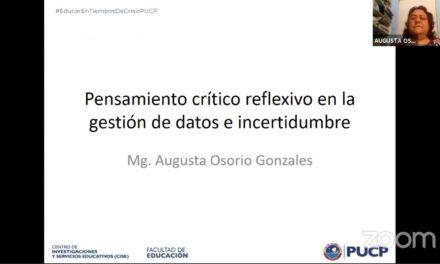 Pensamiento crítico reflexivo en la gestión de datos e incertidumbre