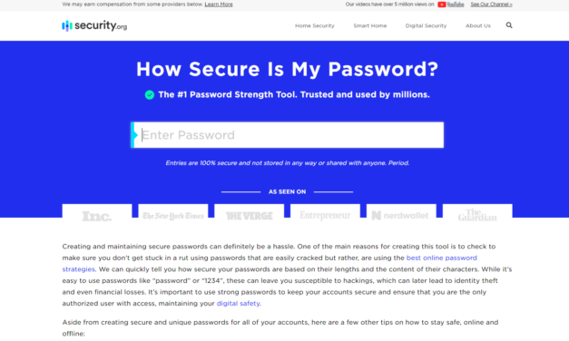 How secure is my password