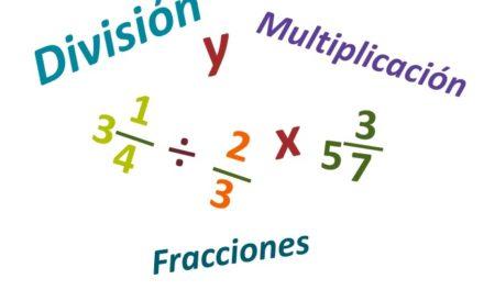Multiplicación y división de fracciones