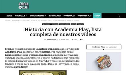 Historia con Academia Play, lista completa de nuestros vídeos