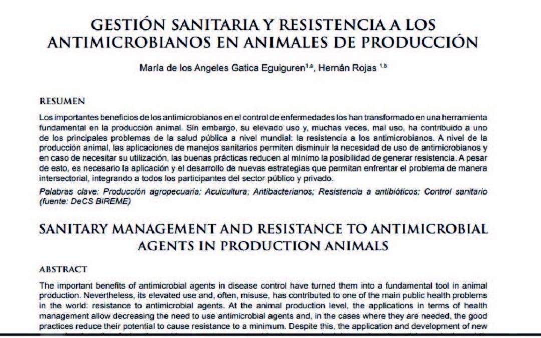 Gestión sanitaria y resistencia a los antimicrobianos en animales de producción